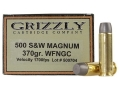 Grizzly Ammunition 500 S&W Magnum 370 Grain Cast Performance Lead Wide Flat Nose Gas Check Box of 20