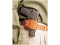DeSantis Yaqui Slide Belt Holster Right Hand Large Frame Double Action Semi-Automatic Leather Tan