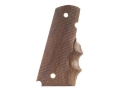 Hogue Fancy Hardwood Grips with Finger Grooves 1911 Government, Commander Checkered Pau Ferro