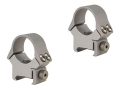 "B-Square 1"" InterLock Fixed Dovetail Rings with Recoil Blade Silver"