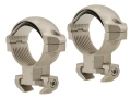Millett 30mm Angle-Loc Windage Adjustable Weaver-Style Rings Silver Medium