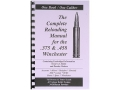 Loadbooks USA &quot;375 and 458 Winchester&quot; Reloading Manual