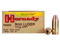 Hornady Custom Ammunition 9mm Luger 115 Grain XTP Jacketed Hollow Point Box of 25
