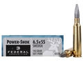 Federal Power-Shok Ammunition 6.5x55mm Swedish Mauser 140 Grain Soft Point Moly Box of 20