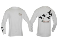 Avery Flock of Ducks T-Shirt Long Sleeve Cotton White Medium