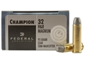 Federal Champion Target Ammunition 32 H&amp;R Magnum 95 Grain Lead Semi-Wadcutter Box of 20