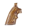 Hogue Fancy Hardwood Grips with Accent Stripe and Top Finger Groove Taurus Medium and Large Frame Revolvers Round Butt Cocobolo
