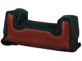 Edgewood Front Shooting Rest Bag Common Varmint Width Leather and Nylon Green Unfilled