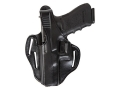 Bianchi 77 Piranha Belt Holster Left Hand Glock 17, 22 Leather Black