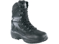 "Converse Stealth 8"" Waterproof Tactical Boots Leather and Cordura Side Zip Uninsulated  Black Men's 8.5 M"
