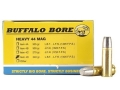 Product detail of Buffalo Bore Ammunition 44 Remington Magnum +P+ 340 Grain Lead Flat Nose Gas Check Box of 20