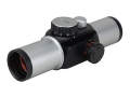Sightron Red Dot Sight 33mm Tube 1x 4-Pattern Reticle (Duplex with 1 MOA Dot, 4 MOA Dot, 75 MOA Circle with 8 MOA Dot, Crosshair 30 MOA Circle with 2 MOA Dot) with Weaver-Style Rings Silver