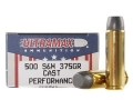 Ultramax Ammunition 500 S&W Magnum 375 Grain Lead Flat Nose Box of 20