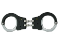 ASP Model 250 Hinged Handcuffs 7075 T6 Aluminum with Polymer Over-molded Frame Black