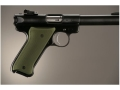 Hogue Extreme Series Grip Ruger Mark II, Mark III Checkered Aluminum Matte Green