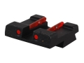 HIVIZ Rear Sight Springfield XD, XDM Steel Fiber Optic Red