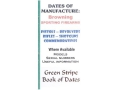 Green Stripe Data Books &quot;Browning&quot; Book by Firing Pin Enterprises