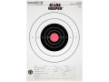 Champion Score Keeper 25 Yard Slow Fire Pistol Target 11&quot; x 16&quot; Paper Orange Bull Package of 100