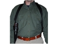 "Uncle Mike's Sidekick Vertical Shoulder Holster Left Hand Medium Double-Action Revolver 4"" Barrel Nylon Black"