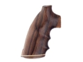 Hogue Fancy Hardwood Grips with Accent Stripe, Finger Grooves and Contrasting Butt Cap Colt Python Rosewood