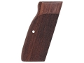 Hogue Fancy Hardwood Grips with Accent Stripe, Finger Grooves and Contrasting Butt Cap CZ 75, EAA Witness 9mm, Tanfoglio, Springfield P9, Sphinx Checkered Rosewood
