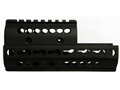 Midwest Industries 2-Piece KeyMod Handguard Quad Rail AK-47, AK-74 Aluminum Black