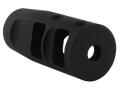 "JP Enterprises Bennie Cooley TactiCal Muzzle Brake 223 Caliber 1/2""-28 Thread .875"" Outside Diameter Steel Matte"