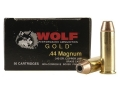 Product detail of Wolf Gold Ammunition 44 Remington Magnum 240 Grain Jacketed Hollow Point Box of 50