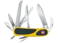 Wenger Swiss Army  EvoGrip 18 Folding Knife 15 Function Swiss Surgical Steel Blades Polymer Scales Yellow