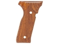 Product detail of Hogue Fancy Hardwood Grips Beretta Cougar 8000 Checkered Cocobolo