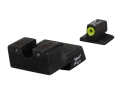 Trijicon HD Night Sight Set 1911 Novak Cut Steel Matte 3-Dot Tritium Green with Front Dot Outline