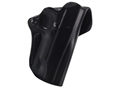 Product detail of DeSantis Mini Scabbard Outside the Waistband Holster Right Hand 1911 Commander Leather Black