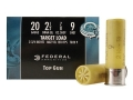 "Federal Top Gun Ammunition 20 Gauge 2-3/4"" 7/8 oz #9 Shot"