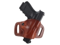 El Paso Saddlery High Slide Outside the Waistband Holster Right Hand Glock 20, 21 Leather Russet Brown