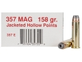 Product detail of Ultramax  Ammunition 357 Magnum 158 Grain Jacketed Hollow Point Box of 50