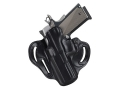 DeSantis Speed Scabbard Belt Holster Left Hand Glock 20, 21 Leather Black