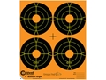 "Caldwell Orange Peel Targets 4"" Self-Adhesive Bullseye (4 Bulls Per Sheet) Package of 25- Blemished"