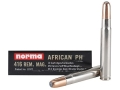 Norma African PH Ammunition 416 Remington Magnum 450 Grain Woodleigh Weldcore Soft Nose Box of 10