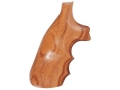 Hogue Fancy Hardwood Grips with Finger Grooves S&W J-Frame Square Butt