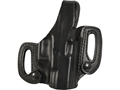 BLACKHAWK! CQC Detachable Belt Slide Holster Right Hand Glock 20, 21, 37 Leather Black