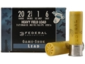 "Federal Game-Shok Heavy Field Load Ammunition 20 Gauge 2-3/4"" 1 oz #6 Shot Box of 25"