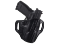 El Paso Saddlery Crosshair Outside the Waistband Holster Right Hand Springfield XD 45 Service Leather Black