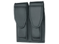 Gould &amp; Goodrich B629 Double Magazine Pouch Glock 20, 21, 29, 30, 37, Para-Ordnance P10, P12, P13, P14, P15, P16, Springfield XD 45 Leather Black