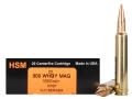 HSM Trophy Gold Ammunition 300 Weatherby Magnum 168 Grain Berger Hunting VLD Hollow Point Boat Tail Box of 20