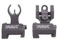 Troy Industries Medium Flip-Up Battle Sight Set HK-Style Front, Round Rear AR-15 Aluminum