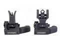 Troy Industries Offset Flip-Up Battle Sight Set M4-Style Front, Dioptic Rear AR-15 Aluminum