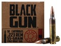 Product detail of BlackGun Industries Ammunition 223 Remington 55 Grain Full Metal Jacket Boat Tail