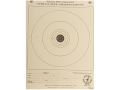 NRA Official Air Rifle Training Target TQ-5/1 25' Paper Package of 100