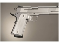 Hogue Extreme Series Grips 1911 Government, Commander Ambidextrous Safety Cut Checkered Brushed Aluminum Gloss Clear