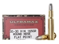 Product detail of Ultramax Cowboy Action Ammunition 30-30 Winchester 165 Grain Lead Flat Nose Box of 20